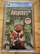 Avengers 54 1st App. New Masters Of Evil Ultron Cameo July 1968 Cgc 7.0