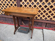 Vintage Rare Singer Treadle Sewing Machine Cabinet Table 1 Drawer Cast Iron.