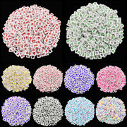 60pcs 6mm Square Heart Loose Beads For Diy Jewelry Making Pendant Wholesale