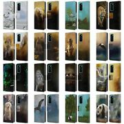 Official Simone Gatterwe Animals Leather Book Wallet Case For Huawei Phones 4
