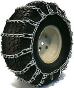 Set Of 2-link Zinc-plated Turf Tire Chains For 15x6x6, 14x5.5x5, 15x5x6 Snow Mud