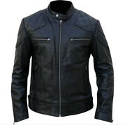 Best Quality Cowhide Leather Motorbike Leather Jacket