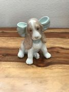 Lladro Nao Porcelain China Figurine 1349 Puppy Present Spaniel Dog With Bow Vgc