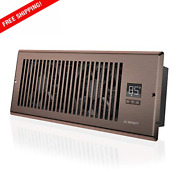 Quiet Register Booster Fan W/thermostat Control. Heating Cooling Ac Vent