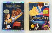 Walt Disney Beauty And The Beast And Sleeping Beauty Special Edition Dvd's