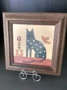 Original Stencil Painting By Gale Blair - The Stencilworks Framed Artwork Cat