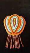 Nice Hand Crafted Cut Beaded Flower Design Native American Indian Barrette