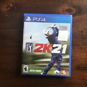 Pga Tour 2k21 Sony Playstation 4 Ps4 2020 Justin Thomas Game And Case Tested