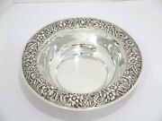 10 In - Sterling Silver S. Kirk And Son Antique Floral Repousse Serving Bowl