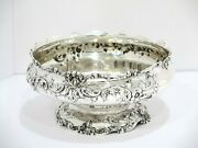 9.25 Sterling Silver Dominick And Haff Antique Floral Scroll Footed Serving Bowl