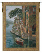 Lake Como Belgian Tapestry Loom-crafted Wall Art For Home Or Office