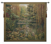 Monet Vertical Belgian Tapestry Loom-crafted Wall Art For Home Or Office