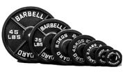 Pair Of 45lb Olympic Barbell Plates 2 Inch Solid Cast Iron Weight Plate Home Gym