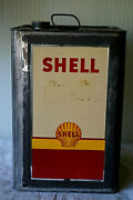 Vintage Shell Oil Company 5 Gallon Oil Can-original Automotive Advertising