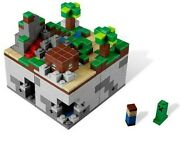 Lego Minecraft 3 Set Bundle Micro World, Village, And Nether 100 Complete