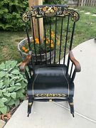 Antique Nichols And Stone Co. Sleigh Seat Rocking Chair - Beautiful Chair