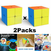 2packs Professional Rubiks Cube 3x3x3 Fastest Speed Magic Cube Fun Puzzle Toy Us