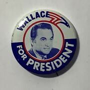 Vintage Wallace For President Political Campaign 1-1/2andrdquo Button Pin Pinback