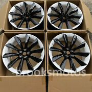 22 T-style White Black Staggered Wheels Rims Fits Tesla Model X 22x9 22x10