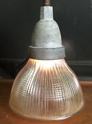 Vintage Industrial Light Crouse Hinds Holophane Steampunk Ceiling Explosion