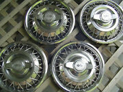 Vintage 14 Inch 1964 1965 1966 Chevrolet Corvair Hubcaps Wheel Covers Chevy Ii