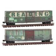N Scale - Micro-trains Line 993 05 860 Conrail Ex Reading 50' Boxcar 2-pack