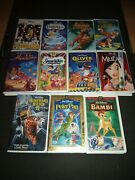 Disney Vhs Tapes Lot.101 Dalmatianscinderellatarzan The Fox And The Hound Etc