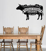 Vinyl Wall Decal Logo For Grilling Barbecue Steak House Cafe Sticker N1492