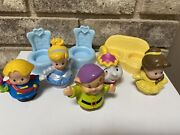Fisher Price Little People Disney Princess Chairs Figures Lot Of 8 Toys