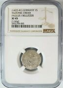 Paulus I Bellitzer Teutonic Order Germany Ngc Xf45 Silver 1s Schilling Knights