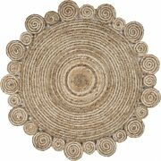 Bleached And Natural Spiral Boutique Jute Rug