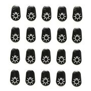 Boat Rotary Switch Decals 34598   Dock Lights Black Set Of 20
