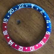 Vintage Rolex Gmt-master 1675 Faded Fat Font Red Blue And Red Back Bezel Insert