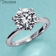 1 Ct Solitaire Diamond Engagement Ring White Gold I2 Msrp 8800 23151115