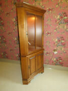 Lighted Corner China Hutch Cabinet Tell City Chair Company Hard Rock Maple 48