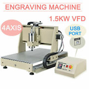 Usb 4axis 6040 Cnc Router Engraver Milling Machine Wood Drilling Carving Cutter