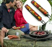 Portable Bbq Grilling Basket Stainless Steel Nonstick Fish Barbecue Grill Basket