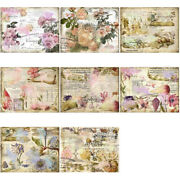 8x Retro Hand Account Material English Background Diy Art Packaging Scrapbooking