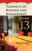 Advances In Business And Management, Hardcover By Nelson, William D. Edt, B...