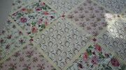 Romantic Shabby Cottage Chic Pink Roses Full Size Quilt With Shams Anna Griffin