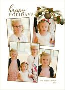 Holiday Christmas Photo Card Personalized Gold Ornaments