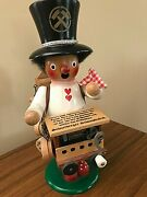 Vintage Handcrafted German Smoker With Music Box - 9.25