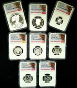 2020s Us Mint Limited Edition Silver Proof Set Ngc Pf70/69 8 Coins W/box And Coa