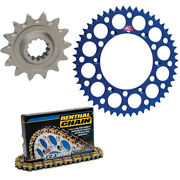 Renthal 428 Chain And 13-48 Sprocket Kit Blue For 1994-2001 Yamaha Yz80 Big Wheel