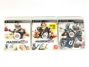 Madden Nfl 11 12 And 13 Ea Sports Playstation 3, Ps3 Set Of 3 - See Description