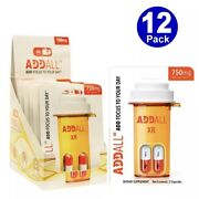 Addall Xr 750mg Energy Focus Concentration 12 Packs - 24 Capsules