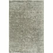 Quartz Qtz-5000 12and039 X 15and039 Rectangle Area Rug In Ice Blue And Charcoal
