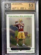 2005 Topps Chrome Aaron Rodgers Rookie Card Bgs 9.5