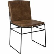Coaster Sherman Upholstered Side Chair In Antique Brown And Matte Black