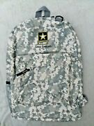 Us Army Backpack New Polyester Digital Green Camouflage 17x12x5 Made In Usa